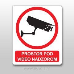 Naljepnica Prostor pod video nadzorom