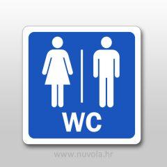 Naljepnica WC oznaka