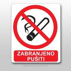 Naljepnica Zabranjeno pušiti