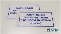 Naljepnica po narudžbi tisak na bijelu PVC foliju