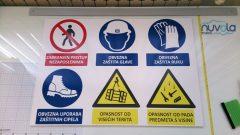 Naljepnice tabla za gradilište obavezni znakovi