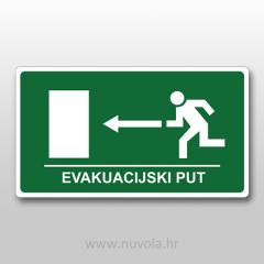 Naljepnica Evakuacijski put lijevo