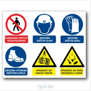 Tabla za gradilište – građevinska ploča s obveznim znakovima