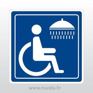 Naljepnica tuš za invalide
