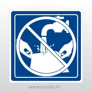 Naljepnica Voda nije za pranje veša