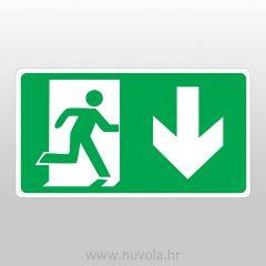 Evakuacijski put ravno (vrata lijevo)