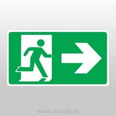 Evakuacijski put desno