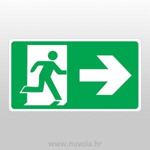 Naljepnica Evakuacijski put desno