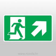 Evakuacijski put gore desno