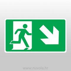 Evakuacijski put desno dolje