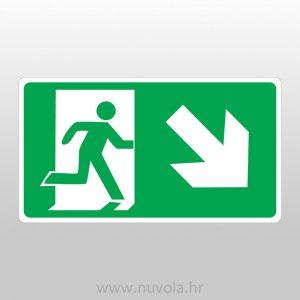 Naljepnica Evakuacijski put desno dolje