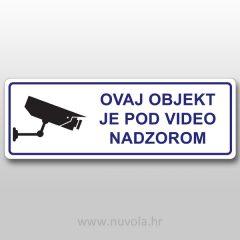 Naljepnica Objekt pod video nadzorom