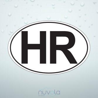 Naljepnica HR za automobile