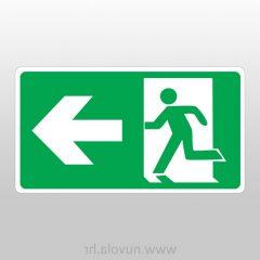 Evakuacijski put lijevo