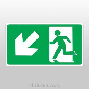 Evakuacijski put lijevo dolje