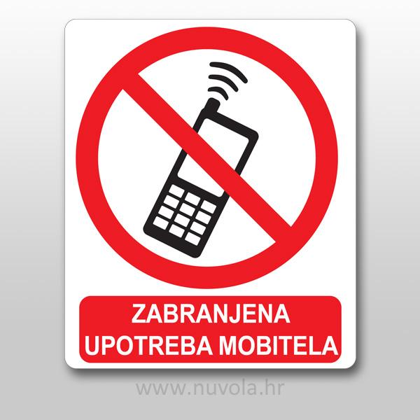 Naljepnica zabranjena upotreba mobitela