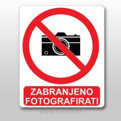 Naljepnica zabranjeno fotografiranje