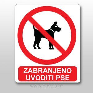 Naljepnica zabranjeno uvoditi pse