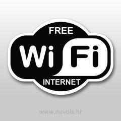 Naljepnica Free Wifi
