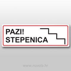 Naljepnica oznaka pazi stepenica