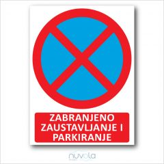 ploča zabranjeno parkiranje