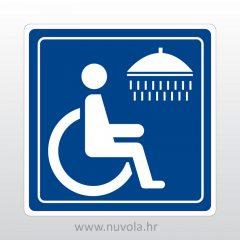 Naljepnica oznaka tuš za invalide