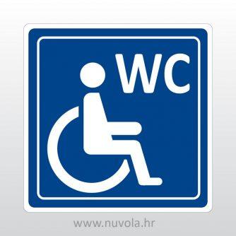 Naljepnica oznaka WC prilagođen invalidima
