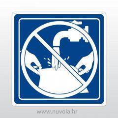 Zabranjeno pranje veša naljepnica oznaka