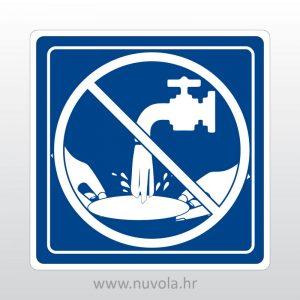 Oznaka zabranjeno pranje suđa iznad