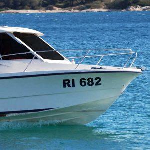 Naljepnica oznaka za plovilo (čamac, gliser, brodicu)