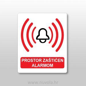 Naljepnica – prostor zaštićen alarmom