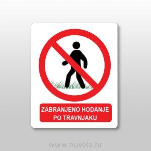 Naljepnica – zabranjeno hodanje po travnjaku