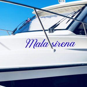 Naljepnica s Vašim tekstom za plovilo (čamac, gliser, brodicu)