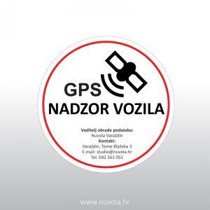 Naljepnica GPS nadzor vozila GDPR