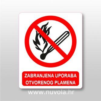 nw0091- Zabranjena uporaba otvorenog plamena