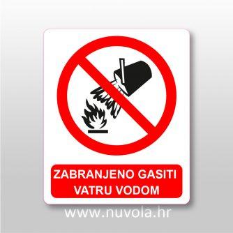 Zabranjeno gasiti vatru vodom