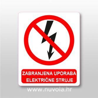 Zabranjena uporaba električne struje