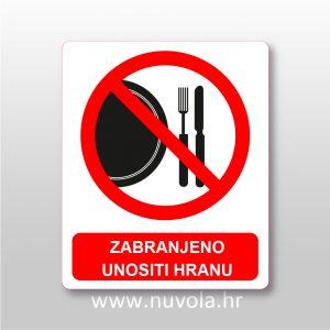 Zabranjeno unositi hranu