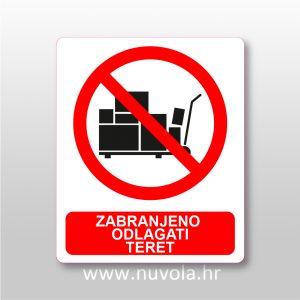 Zabranjeno odlagati teret