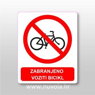 Zabranjeno voziti bicikl