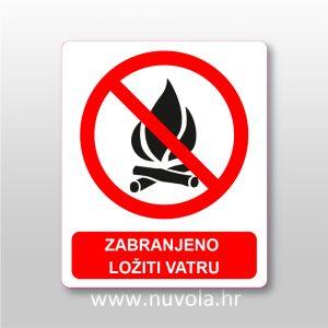 Zabranjeno ložiti vatru