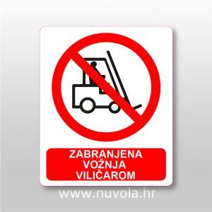 Zabranjena vožnja viličarom