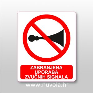 Zabranjena uporaba zvučnih signala