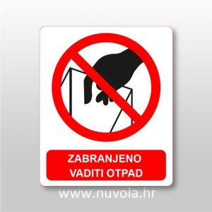 Zabranjeno vaditi otpad