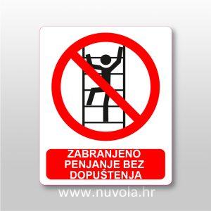 Zabranjeno penjanje bez dopuštenja