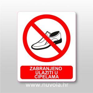 Zabranjeno ulaziti u cipelama