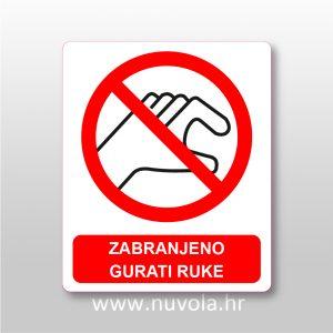Zabranjeno gurati ruke