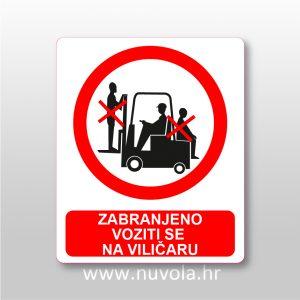 Zabranjeno voziti se na viličaru