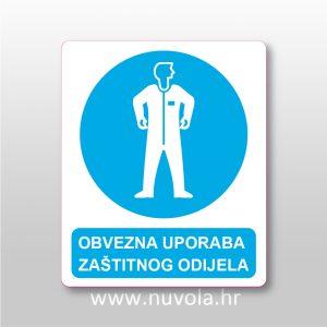 Obvezna uporaba zaštitnog odijela