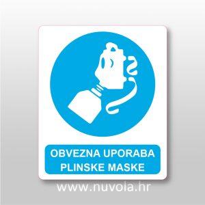 Obvezna uporaba plinske maske